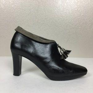 Brighton Black Platform Ankle Bootie Size 8.5
